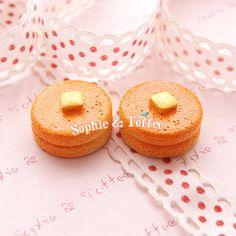 Pancakes Sweets Deco Kawaii Cabochon  9pcs by SophieToffeeCo, $4.68