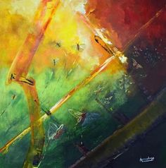 """Where ART Lives Gallery Artists Group Blog: Abstract Art Painting,Butterfly,Environmental Art """"The Great Escape"""" by International Contemporary Abstract Artist Arrachme"""