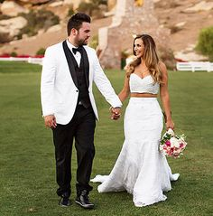 Scheana Marie from Vanderpump Rules wears a midriff-baring wedding dress