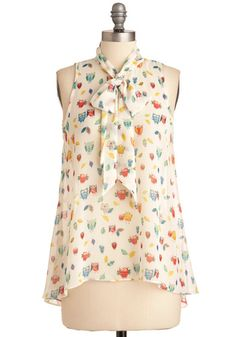 Cute Do You Do Top in Owls, #ModCloth