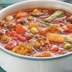 Beefy Vegetable Soup fall is coming!