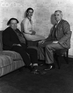 frida with diego and anson conger goodyear (industrialist and art collector)