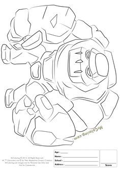 free printable clash of clans golem coloring pages 1