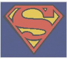 Superman Crochet Pattern Afghan Graph, $5.00.. Pattern now available in MS Excel Format for easier following. More patterns available soon in this easier format!!!
