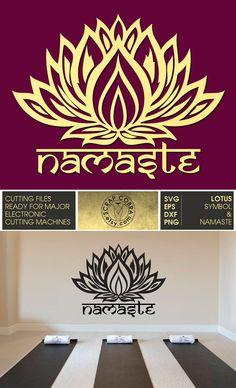 Lotus Symbol & Namaste  Vector Files  Digital by ScrapCobra                                                                                                                                                                                 More