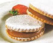 Peruvian caramel filled cookie, Dulce de Leche cookie, alfajores de maicena