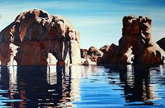 Deep Water, Oil, 24x36 by Ron Larson Oil ~ 24 x 36, Lake Powell