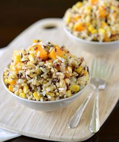 Thanksgiving Recipes : Wild Rice with Roasted Butternut Squash