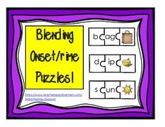 This packet includes:1. 110 word family puzzles with picture perfect for teaching blending of onsets and rimes for all 5 short vowels.2. 1 blank black and white page for students to create their own onset and rime puzzles.3. Title, information and credits pageInstructions:This activity requires some prep but is a great opportunity to encourage some parent participation by cutting for you at school or at home.