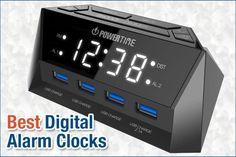 Top 9 Best Digital Alarm Clocks in 2020 Alarm Clocks, Digital Alarm Clock, Top, Alarm Clock, Crop Shirt, Shirts