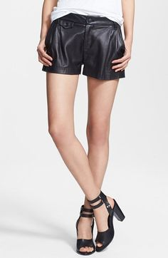 rag & bone 'Tennis' Leather Shorts   Nordstrom