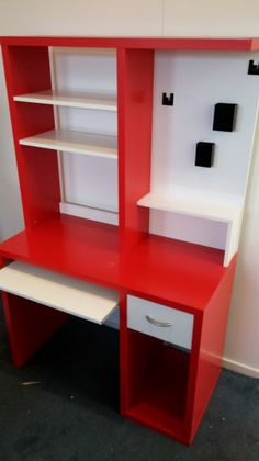 Free Second Hand Red Desk Perfect For A Kids Bedroom Or Study Area Have