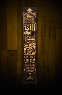 Image of Don't Say the Zed Word wall plank with built in bottle opener Zombie Apocalypse Kit, Plank, Bottle Opener, Cast Iron, Wall Art, Building, Couch, Vintage, Etsy