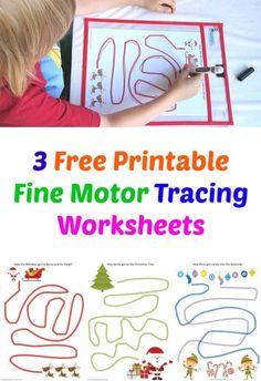3 Free Printable Fine Motor Tracing Worksheets