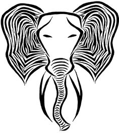 Elephant Tattoo Designs - The Body is a Canvas Small Inspirational Tattoos, Small Quote Tattoos, Small Meaningful Tattoos, Elephant Tattoo Design, Elephant Tattoos, Collar Bone Tattoo Small, Small Colorful Tattoos, Tribal Elephant, African Elephant