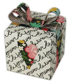 Forever Gift Box Favor created using the @We R Memory Keepers Gift Box Punch Board.