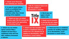 Nine Things You Should Know About Your Title IX Rights and Your School's Responsibilities - A guide for US students facing sex discrimination, sexual assault, and sexual harassment.