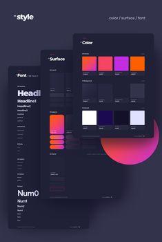 Investments Landing Page on Behance Web Design Color, Ui Color, Site Design, Graphic Design, Wireframe Design, App Ui Design, Futuristic Design, Design System, Style Tile