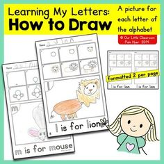 HOW TO DRAW is the newest set in the Alphabet Activities series.  It is a set of directed drawing worksheets with a page for each letter of the alphabet.  The process of directed drawing is a fabulous  activity for early learners, and is not just merely a way to practice following directions.