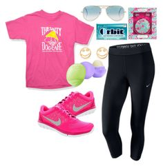 """""""An outfit with PINK!!!"""" by preppygirl13 ❤ liked on Polyvore"""