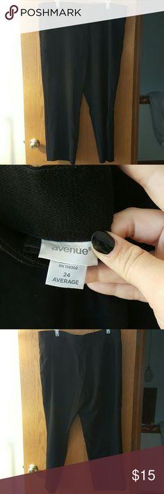 Avenue black dress pants Worn only a few times. Size 24 Avenue black dress pants. Avenue Pants
