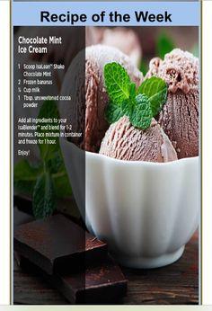 Yummm Chocolate Mint icecream!! Guilt free!!