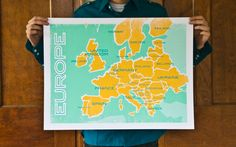 I wish I had this Europe map in my living room, so that I could pin all the places I've been. #travel