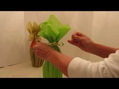 Learn how to gift wrap a wine bottle. Step by step video showing how to wrap a wine bottle with only tissue paper and ribbon. Add a gift card and bow to fini. Wine Bottle Gift, Diy Bottle, Wine Gifts, Water Bottle, Tissue Paper Wrapping, Tissue Paper Flowers, Cute Diy Gift Wrap, Wine Pull, Creative Gift Wrapping