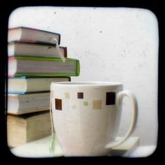 Books and Tea Photo 4x4 Tea Drinking Bookworms by HeyHarriet, $6.00