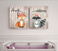 Woodland animals set Fox picture Woodland theme decor by EllowDee Woodland Theme, Woodland Baby, Woodland Nursery, Woodland Animals, Fox Nursery, Girl Nursery, Nursery Decor, Baby Decor, Nursery Art