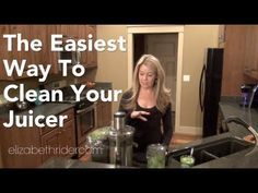 The Easiest Way to Clean Your Juicer Head on over to http://www.elizabethrider.com and subscribe to my email list for exclusive free content including healthy recipes, cooking classes and wellness advice that actually works. See you there!