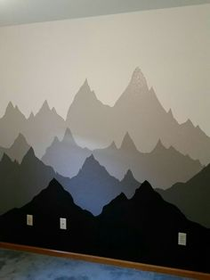 Mountain silhouettes mural