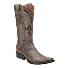 8f73560530 Jose OrozcoCowboy boots · BOTA CUADRA ~ Bota tradicional vaquera en piel  genuina de venado pintada a mano con detalles