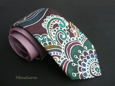 Mens Silk Necktie Hand Painted Mens tie Pale Purple tie Mens Neckties Stylish tie Silk Satin neckties Father Gifts for him Handpainted Tie by FilkinaScarves on EtsyUnique hand-painted Pale Purple tie with stylized floral and leaf ornaments. With use of bee wax technique - the contours have the original ivory color of silk satin.