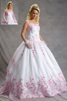 Pink and White Quince Dress with Jacket