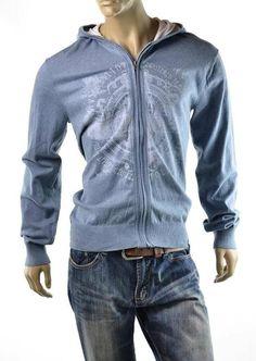 Buffalo David Bitton Sweater Mens Walby Hoodie Jacket Jumper Shirt Size S #BuffaloDavidBitton #Hooded