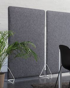A sound absorbing partition made using the textile 'Adora'. Felt Screen has a steel frame, acoustic fiber filling and a felt cover of wool. It easily slips into the unique steel feet. Floor Screen, Felt Cover, Sound Absorbing, New Environment, Dark Beige, Hush Hush, Steel Frame, Colours, Flooring