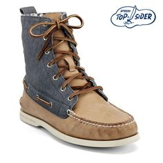 Men's Cloud Logo Authentic Original 7-Eye Boot.  Pretty rad for Sperrys!