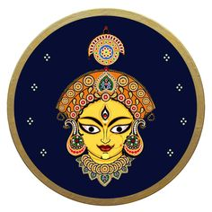 Diy Canvas Art, Canvas Ideas, Painting Canvas, Wooden Plates, Decorative Plates, Indian Crafts, Durga Maa, Indian Art Paintings, Plate Art