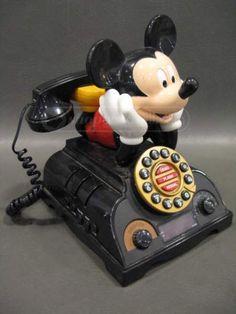Telemania/Disney Mickey Talking Phone/Alarm Clock
