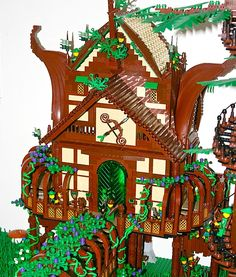 LEGO Fairy Forest Forestmen Guild by Siercon & Coral http://thebrickblogger.com/2012/08/lego-fairy-forest/