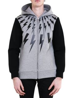 NEIL BARRETT Neil Barrett Lightning Print Sweatshirt. #neilbarrett #cloth #https: