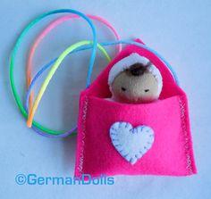 NEW Valentine Love Letter waldorf toy Envelope with by germandolls, $25.95