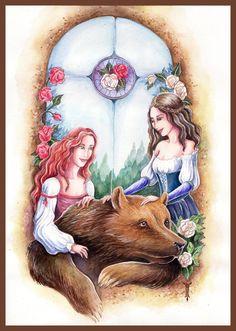 Snow White, Rose Red by TrollGirl on deviantART