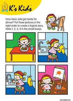 Sequencing Worksheets, Sequencing Cards, Story Sequencing, Kindergarten Worksheets, Speech Activities, Speech Therapy Activities, Preschool Activities, English Activities For Kids, English Worksheets For Kids