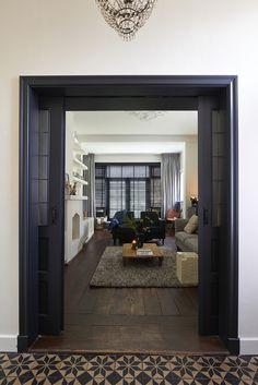 Love these doors and windows My Living Room, Home And Living, Living Spaces, Modern Interior, Home Interior Design, Home Office Design, House Design, Urban Architecture, Architect Design