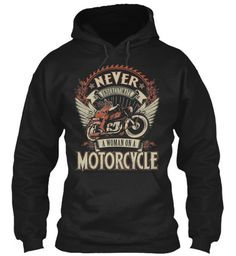 Woman On A Motorcycle Hoody