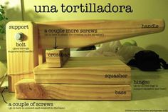 How to make a wooden tortilla press: One of the things that provided endless fascination for me in Mexico and Central America was the creativity and innovation employed to create hand tools and appropriate technologies from available materials. Wood Projects For Beginners, Easy Wood Projects, Beginner Woodworking Projects, Wood Working For Beginners, Woodworking Plans, Tortilla Grill, Tortilla Maker, Tortilla Press, Tortilla Recipe