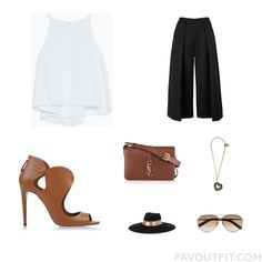 Style Stuff With Zara Top, Black Slip, Aquazzura Sandals And Leather Shoulder Bag From July 2015