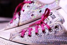 Sparkly sneaks. The perfect touch for prom!!